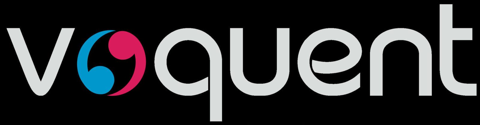 Vquent logo black background