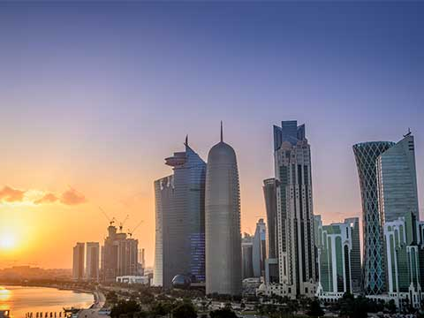 Doha city in Qatar