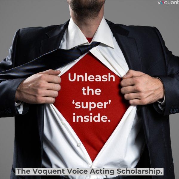 Superhero voice actor