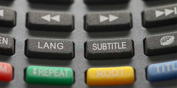 Remote control with Subtitle button