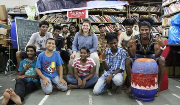 Group picture with Noemi and some of the Hindi participants