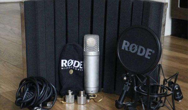 Rode NT1-A is perfect for a portable voice-over studio