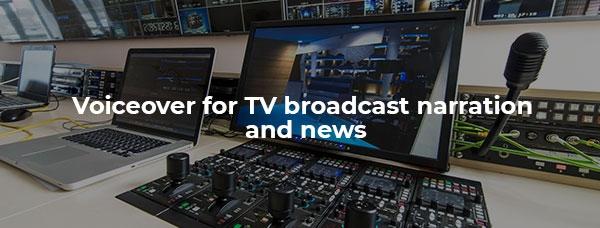 Live TV broadcast studio