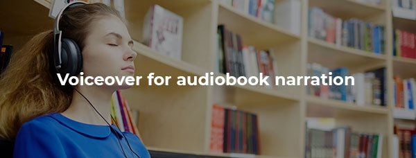 Girl listens to audiobook with eyes shut.