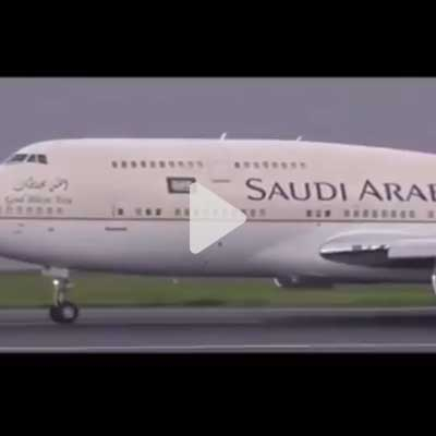 Heba voices a commercial for Saudi Arabian airlines