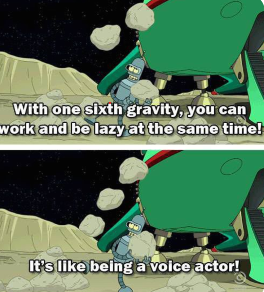Futurama meme about voice acting
