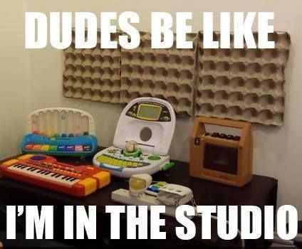 toy recording studio setup