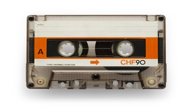 The history of voice-over: an audio cassette